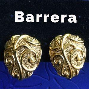 Jose & Maria Barrera Venetian Mist Clip Earrings